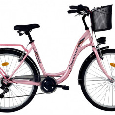 Bicicleta DHS Citadinne 2634 (2017) Roz, 430mmPB Cod:21726344311 - Bicicleta de oras DHS, Otel