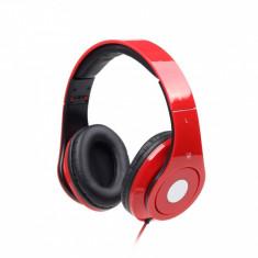 CASTI Gembird stereo cu microfon - dimensiune mare, Detroit, red & black (MHS-DTW-R) - Casca PC