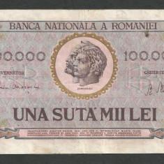 ROMANIA  100000 100.000  LEI  25  ianuarie  1947  [7]   BNR  vertical