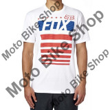 MBS FOX T-SHIRT RED WHITE AND TRUE, optic white, L, Cod Produs: 17930190LAU, Maneca scurta
