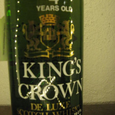 Whisk kings crown, de luxe scotch whisky, 4 ani, cl.75 gr. 40 ani 60