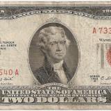 SUA USA 2 DOLARI DOLLARS 1953 B F - bancnota america