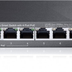 PoE (Power Over Ethernet) Switch 8 Porturi 10/100/1000 M (4 porturi PoE). Gigabit, carcasa metal - Placa de retea Tp-link