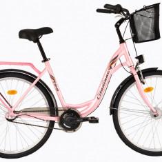 Bicicleta DHS Citadinne 2636 (2017) Roz, 480mmPB Cod:21726364811 - Bicicleta de oras DHS, 12 inch, Otel