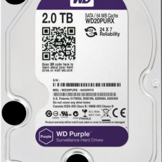 HDD 2TB PURPLE 64MB S-ATA3 WD for SURVEILLANCE