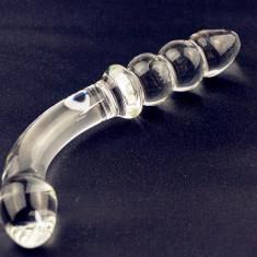 G spot dildo dublu sticla Pyrex - Dildo sticla