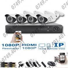 Kit supraveghere CCTV 4 Camere Interior&Exterior AHD, 1080p, Meniu lb. romana