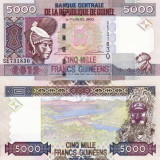 GUINEEA 5.000 francs 2012 UNC!!!