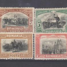 Romania 1906 Carol I 40 Ani de Domnie 8 valori - Timbre Romania, Istorie, Nestampilat