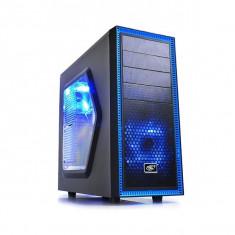 CARCASA DeepCool fara sursa TESSERACT SW ATX Mid-Tower, 2* 120mm LED fan (incluse), side window, front audio & 1x USB 3.0, 1x USB 2.0, black... - Carcasa PC