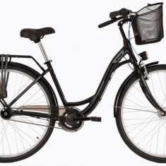 Bicicleta DHS Citadinne 2838 (2017) Negru, 505mmPB Cod:21728385060 - Bicicleta de oras DHS, 13 inch, Otel