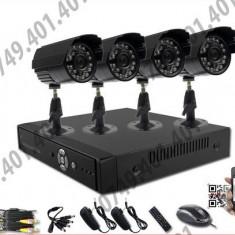 Kit supraveghere CCTV 4 Camere Interior&Exterior HD, 720p, Meniu lb. romana