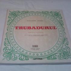 DISCURI VINIL BOX SET 3 LP TRUBADURUL GIUSEPPE VERDI STARE EXCELENTA - Muzica Opera
