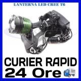 LANTERNA CU LED FRONTALA CREE T6 - ZOOM - 3 FAZE INSTANTE LUMINOASE