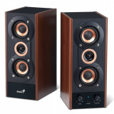 """BOXE 2.0 Genius """"SP-HF800A"""", RMS: 20W (10Wx2), black&cherry wood, line in """"31730997100"""" - Boxe PC"""
