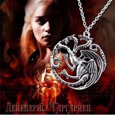 Lantisor aliaj, pandantiv din aliaj Game of Thrones Targaryen - Pandantiv inox
