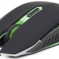 MOUSE Gembird USB gaming, 2400 dpi, green