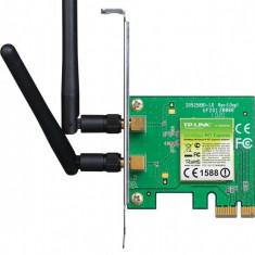 Placa Retea wireless PCIe 300Mbps 2T2R, 2 antene detasabile - Placa de retea Tp-link