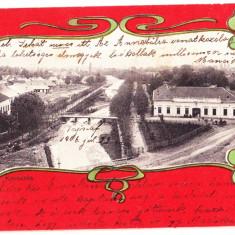 Kovaszna Covasna carte postala clasica circulata 1906 - Carte Postala Transilvania pana la 1904, Printata