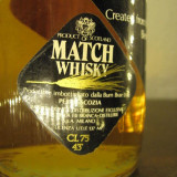 Whisk Match blended 100% scotch whisky, malt grain, 8 ani, cl.75 gr. 43 ani 60