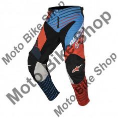 MBS ALPINESTARS RENNHOSE RACER BRAAP, petrol-aqua-orangeflou, 30, 17/026, Cod Produs: 3721417707430AU - Imbracaminte moto Alpinestars, Pantaloni
