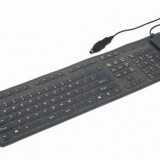 "TASTATURA Gembird Flexibila PS2/USB black ""KB-109F-B"""