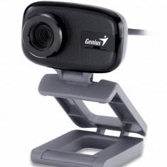 CAMERA WEB Genius 640x480 pixels, FaceCam 321, senzor CMOS, imagine pana la 8M Pixeli (software), focus manual, zoom digital 3x, microfon integrat - Webcam