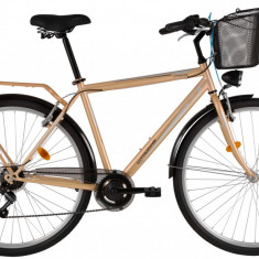 Bicicleta DHS Citadinne 2833 (2017) Bej, 520mmPB Cod:21728335240 - Bicicleta de oras DHS, 13 inch, Otel