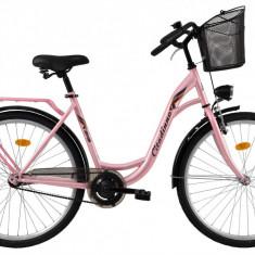 Bicicleta DHS Citadinne 2632 (2017) Roz, 480mmPB Cod:21726324811 - Bicicleta de oras DHS, 12 inch, Otel