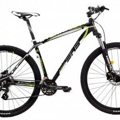 Bicicleta DHS Terrana 2927 (2017) Negru-Verde, 457mmPB Cod:21729274568 - Mountain Bike DHS, 18 inch