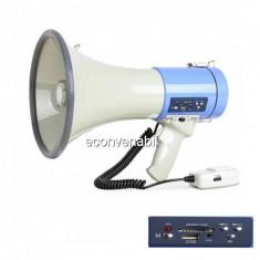 Megafon Portavoce Portabila cu Sirena 25-50W USB ER66USB - Microfon