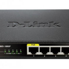 Switch 5 porturi 10/100, 5 porturi 10/100Mbps, 1 port PoE 802.3af, desktop, fara management - Placa de retea D-link