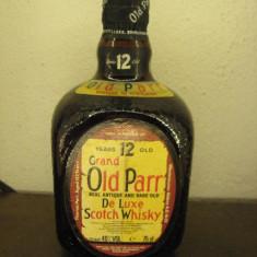 Whisky Grand old parr, 12 ani, de luxe scotch wisky, cl.75 gr. 40 ani 60
