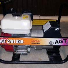 Generator de curent monofazat cu motor HONDA, tip AGT 2701 HSB - Generator curent