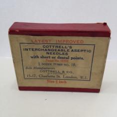 De colectie ! Set vechi de ace dentare,sigilat, anii '40- Cottrell's & Co.