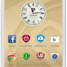 Smartphone Prestigio MultiPhone 5507 DUO - Telefon mobil Prestigio, Alb, 8GB, Neblocat, Quad core, 1 GB