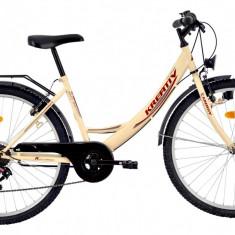 Bicicleta Kreativ 2614 (2017) Cadru 420mm CremPB Cod:217261440 - Bicicleta de oras, 11 inch, Negru, Otel
