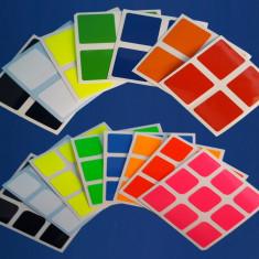 Set stickere pentru cuburi Rubik