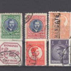 Romania lot 10 timbre stampilate - Timbre Romania, An: 1918, Oameni, Nestampilat