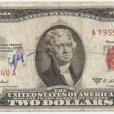 SUA USA 2 DOLARI DOLLARS 1953 C F - bancnota america