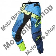 MBS ALPINESTARS RENNHOSE TECHSTAR VENOM, dunkelblau-cyan-gelb fluo, 30, 17/025, Cod Produs: 3720017706630AU - Imbracaminte moto Alpinestars, Pantaloni