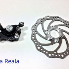 Etrier Complet Frana Spate - Fata + Disc Frana Bicicleta - 140mm - Piesa bicicleta