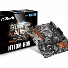 MB ASRock skt. 1151, Intel H110, Tip memorie DDR4, Sloturi memorii 2, 2133 MHz, Memorie maxima 32 GB, PCI Express 3.0 x16, PCI Express 2.0 x1, ... - Placa de Baza