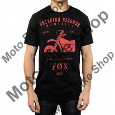 MBS FOX T-SHIRT BOXED OUT, black, M, LE2017, Cod Produs: 16477001MAU - Tricou barbati, Maneca scurta