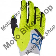 MBS FOX HANDSCHUH PAWTECTOR MX17, white/yellow, M/9, LE2017, Cod Produs: 17286214MAU