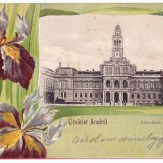 Arad primaria carte postala clasica circulata in 1901 - Carte Postala Crisana pana la 1904, Printata