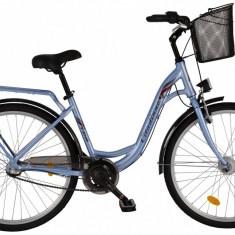 Bicicleta DHS Citadinne 2636 (2017) Albastru, 480mmPB Cod:21726364830 - Bicicleta de oras DHS, 12 inch, Otel