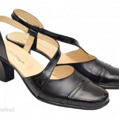 Sandale dama piele naturala negre cu bareta cod S12- Made in Romania, Culoare: Negru, Marime: 35, 36, 37, 38, 39, 40