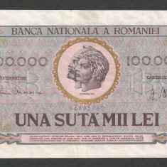 ROMANIA 100000 100.000 LEI 25 ianuarie 1947 [03] BNR vertical - Bancnota romaneasca