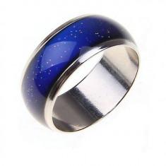 Inel care isi schimba culoarea in functie de starea emotionala Mood Ring, Marime: Alta